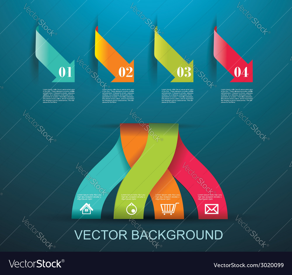 Modern origami style number options banner can be vector | Price: 1 Credit (USD $1)