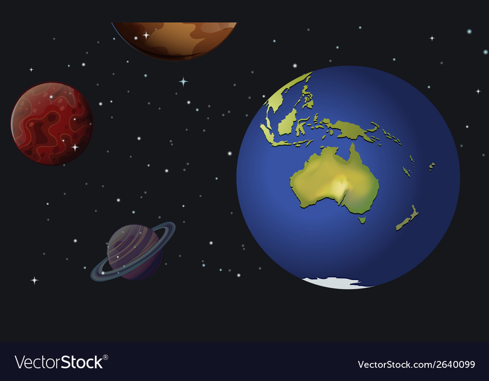 The planets of the solar system vector | Price: 3 Credit (USD $3)