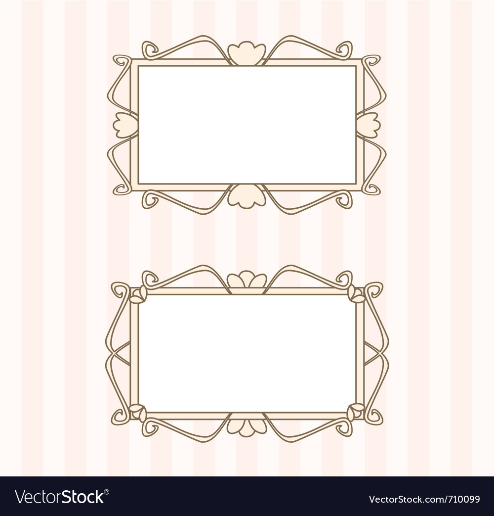 Retro fancy art deco frames vector | Price: 1 Credit (USD $1)