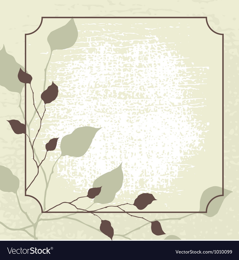 Retro styled background with brown leaves vector | Price: 1 Credit (USD $1)