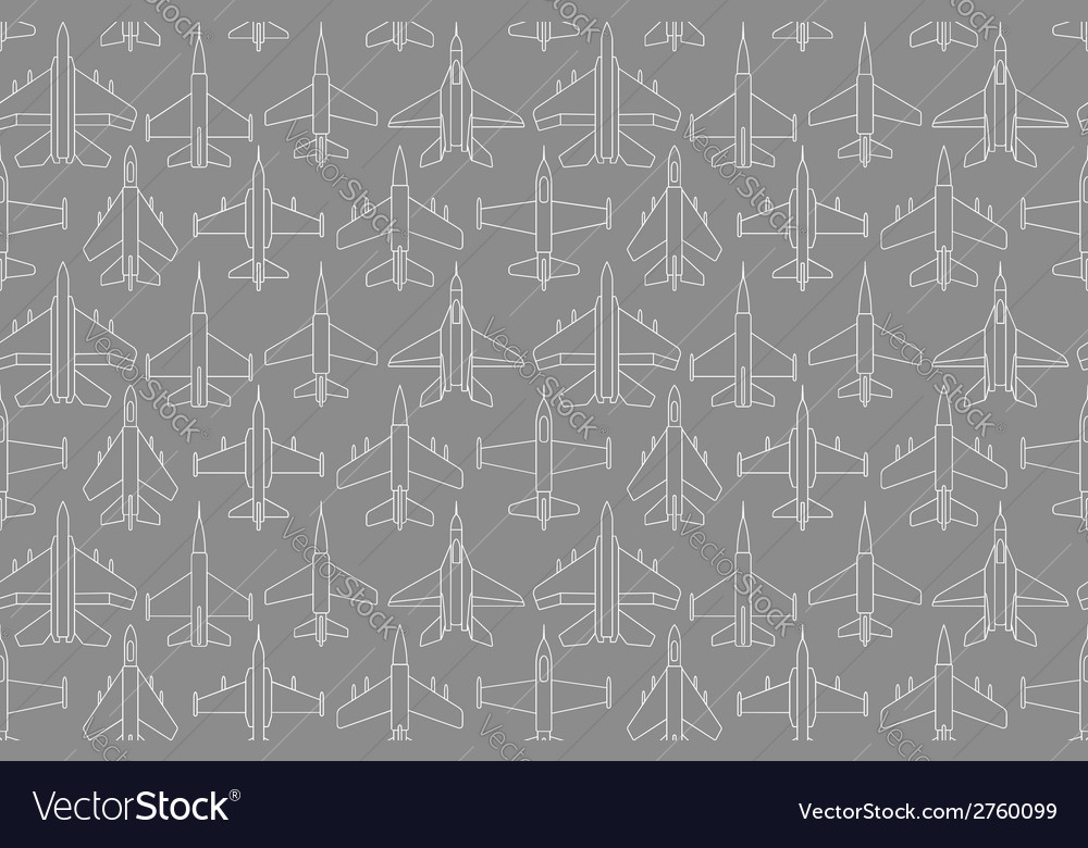 Seamless pattern with military airplanes 01 vector | Price: 1 Credit (USD $1)