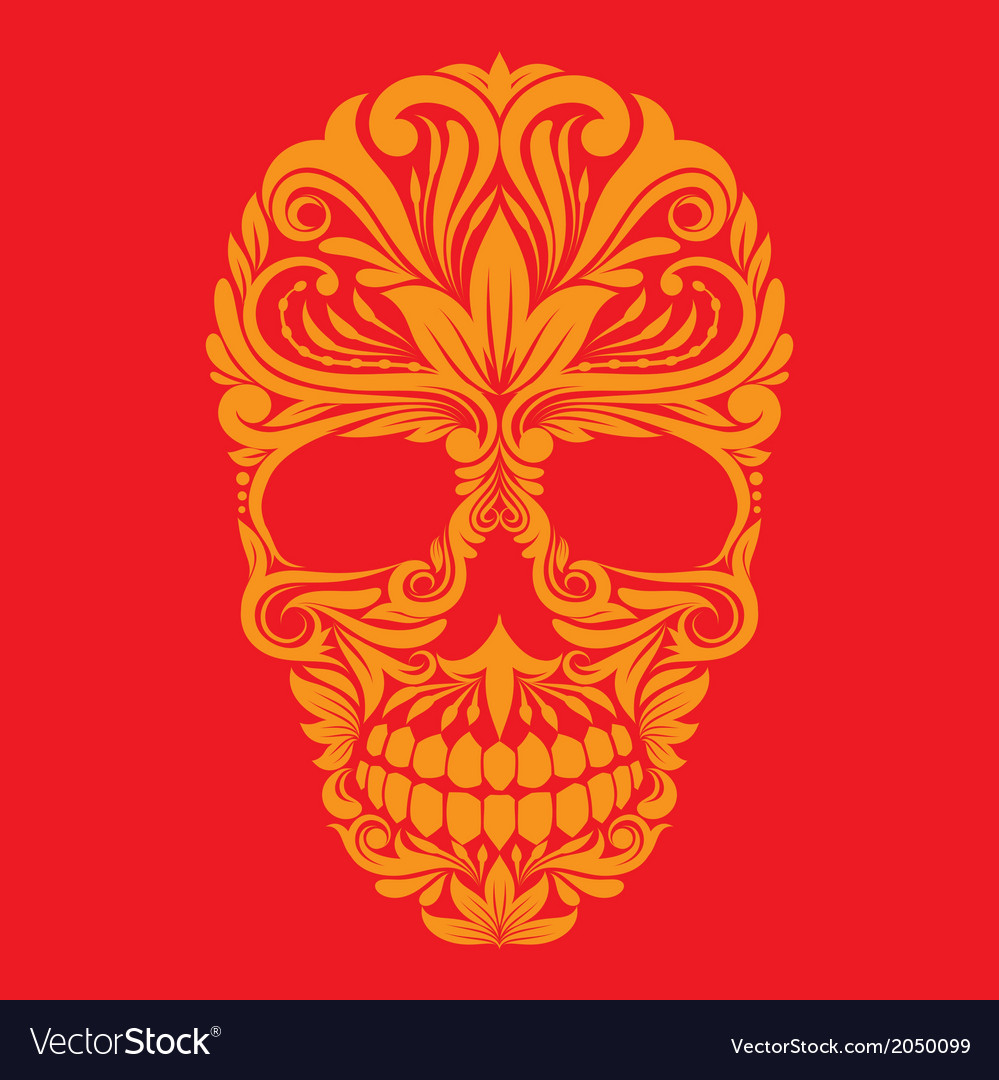 Skull ornamental vector | Price: 1 Credit (USD $1)