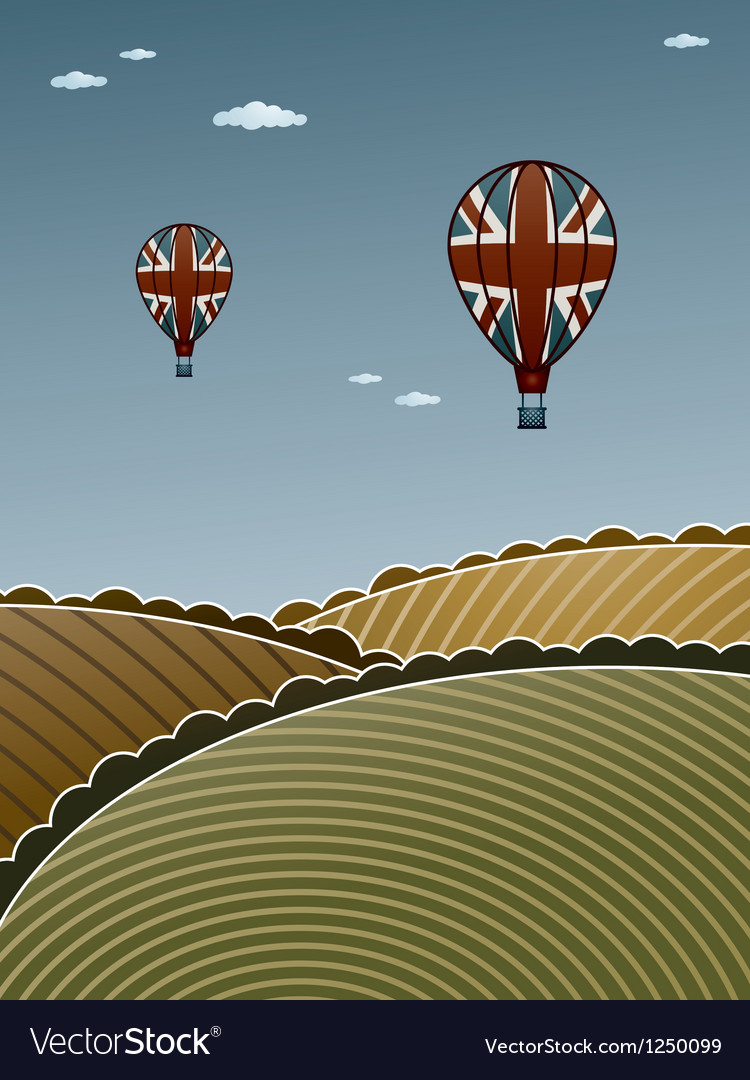 Uk hot air balloons vector | Price: 1 Credit (USD $1)