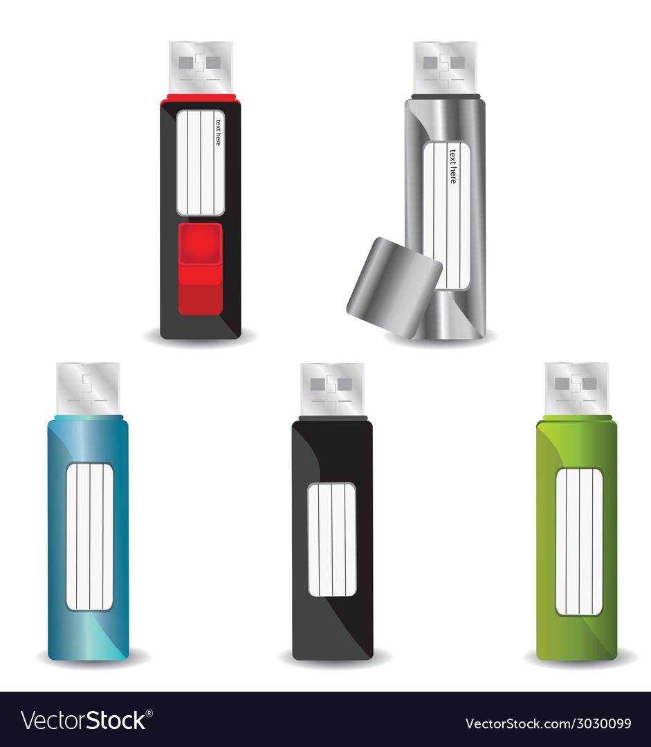 Usb flash drive set vector   Price: 1 Credit (USD $1)
