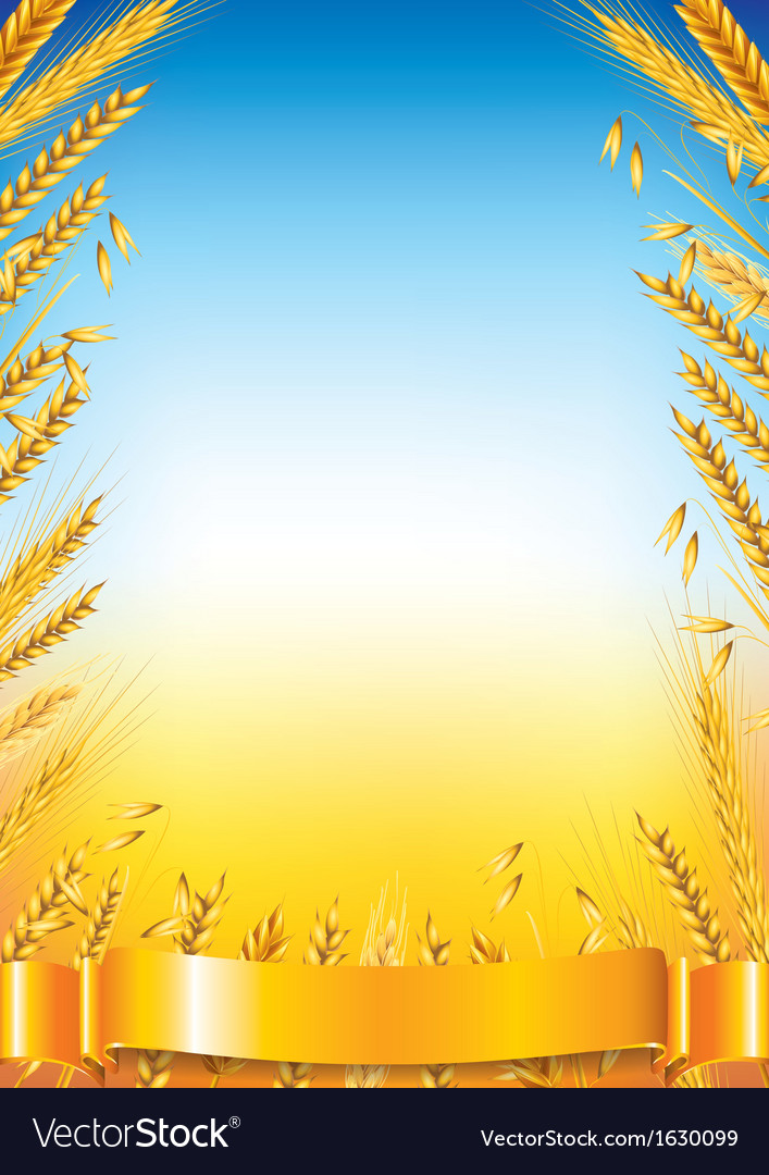 Wheat vertical frame vector | Price: 1 Credit (USD $1)