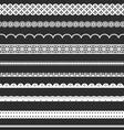 Decorative lace borders vector