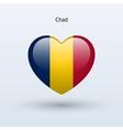 Love chad symbol heart flag icon vector