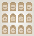 Brown sale tags vector
