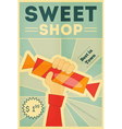 Candy shop hand vector