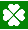 Clover with four leaves icon saint patrick symbol vector