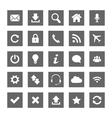 Grey square web icons vector