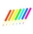 Colored pencils set vector