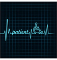 Heartbeat make patient word and symbol stock vector