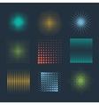 Halftone patterns vector