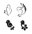 Bird abstract logo design template vector