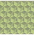 Hexagonal lines pattern abstract 3d background vector