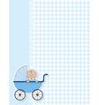 Baby boy background vector