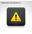 Warning icon gold vector