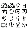 Website menu line stroke icons set - user app vector