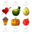 Holiday symbols set vector
