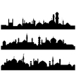 Muslim cities silhouettes vector
