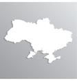 3d map of ukraine vector