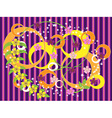 Striped purple background with flowers vector