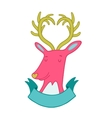 Cute cartoon hand drawn deer vector