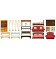 Different furnitures vector