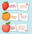 Fruits banners set colorful template for cooking vector