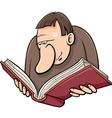 Book reader cartoon vector