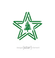 Star with norfolk island flag colors symbols and vector