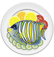 Fish and vegetables vector