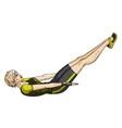 Fitness press vector