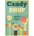 Candy shop hands vector