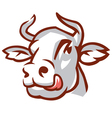 Head of white cow vector