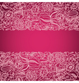 Pink ornamental card with lace vector