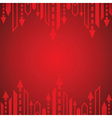 Red arrow background vector