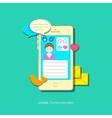 Mobile social media vector