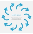 Arrow round frame motion concept flat design style vector