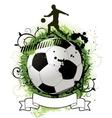 Grunge soccer design vector