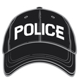 Police baseball cap-police hat vector