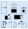 Appliances for the kitchen and home vector