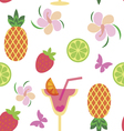 Seamless pattern with tropical sweets vector