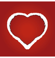 Heart made of red ragged paper vector