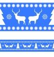 Christmas reindeer nordic pattern vector