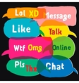 Multicolored speech bubbles vector