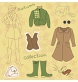 Autumn clothes set vector