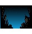 Night city skyline background vector