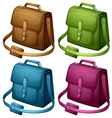 Four colourful bags vector